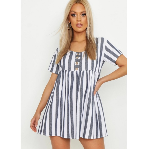 Plus Size Striped Smock Dress NWT